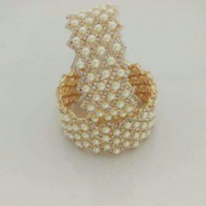 Pearl bangles gold-1002 $25